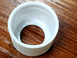a plastic lotion/cream cap made of LEPE for packaging industry